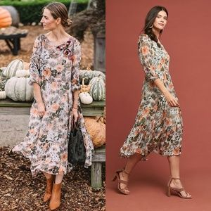 HTF NWT ANTHROPOLOGIE Espalier Embroidered Dress
